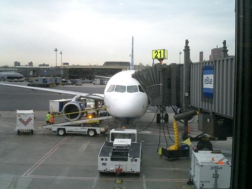 A Plane Being Boarded
