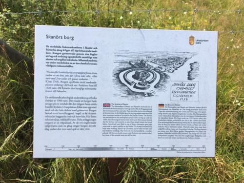 The information board at the site.