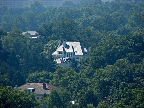 Number One Observatory Circle, as Seen from the Gallery of the National Cathedral, May 2006
