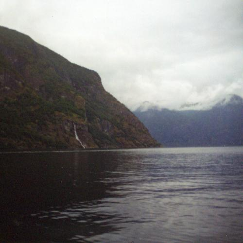 Aurlandsfjord, between Flåm and Aurland, July 2001