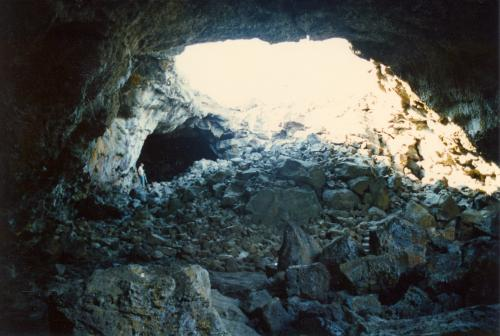 Underground lava tube at Craters of the Moon National Park