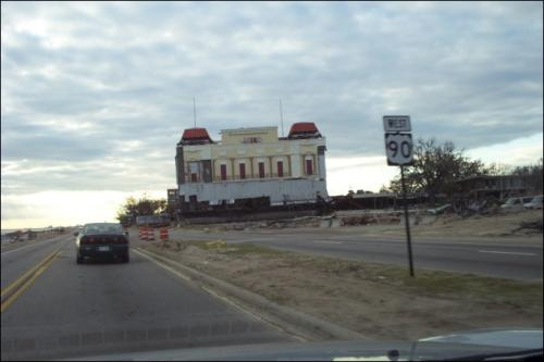 President Casino Barge on north side of Hwy 90
