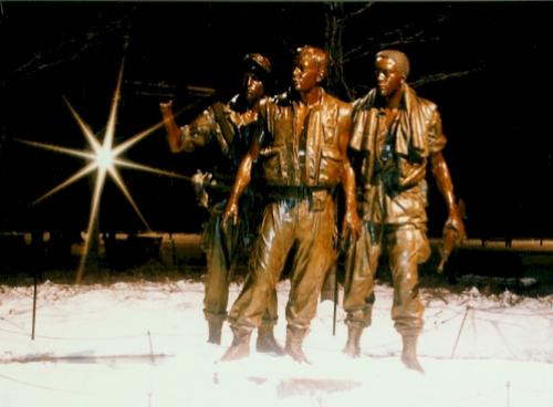 Vietnam War Statue - Winter 1987
