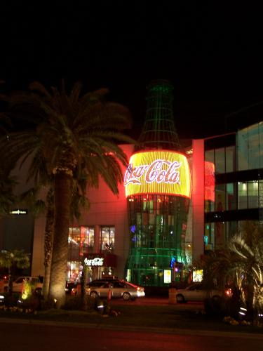 35-foot tall Coca-Cola Bottle at Gameworks