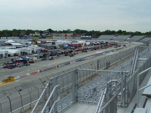 View of the front stretch towards turn one