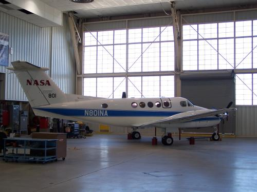 a nasa aircraft in hangar - photo #37