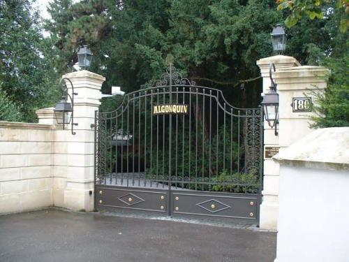 Front gates to Tina's Home