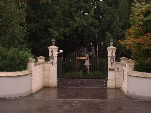 Front gates to Tina