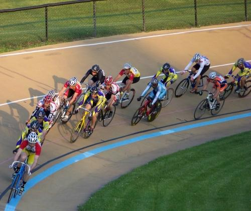 Racing on the Washington Park Velodrome