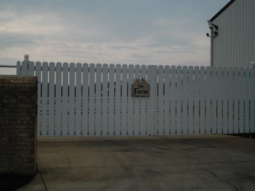 "Secondary Gate at ""The Farm"""