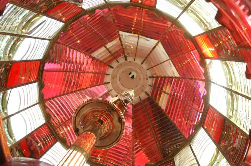 Inside the lantern at Umpqua River light