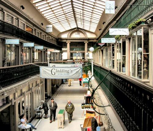 Interior of the Arcade before the shops were closed.