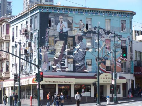 Jazz mural by Bill Weber