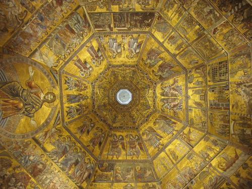 October 2010 - Inside the Baptistery looking up...