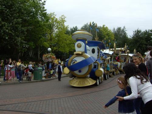 Parade in progress at Disneyland Paris