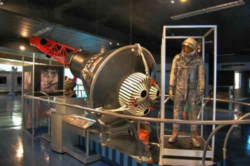Space exploration exhibits