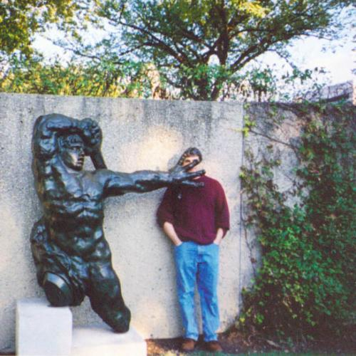 AlbinoFlea with Bourdelle's Great Warrior of Montauban