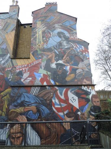 Battle of cable street mural chaswatson 39 s pics and story for Battle of cable street mural