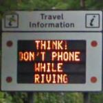 'Think! Don't phone while driving'