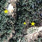 North Korean anti-aircraft artillery battery (Google Maps)
