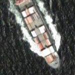 Container ship leaving Tokyo (Google Maps)