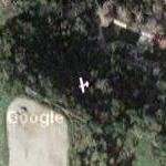 Airplane (small) over San Dimas (Google Maps)