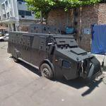 Armored police car (StreetView)