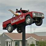 Truck on a pole