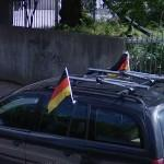 Germany flag on a car (StreetView)