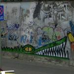 Graffity by Rowdy on the Berlin Wall (StreetView)