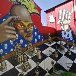 Gangster chess graffiti