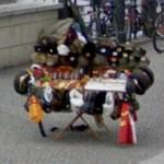 Sales stand with GDR military items (StreetView)