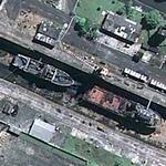 Brazilian Navy ships at dry dock (Google Maps)