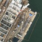 2 Submarines in drydock (Google Maps)