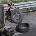 Changing a tire (StreetView)