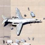 Rockwell B-1 Lancer in Silver (Google Maps)