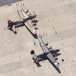"B-17G ""Nine O Nine"" & B-24J ""Witchcraft"" (Google Maps)"