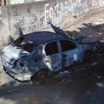 Burned car in Rio (StreetView)