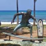 Surfer Statue (StreetView)