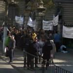 Demonstration in front of Agriculture Ministery (StreetView)