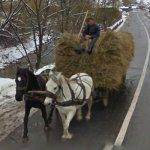 Horse Drawn Hay Wagon