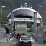 Truck entering a ferry