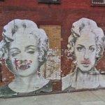 Marilyn Monroe & Madonna graffiti