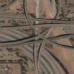 AZ Highway 51, 202 and 10 (Google Maps)