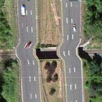 Buckled Roadway (Google Maps)