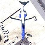 Airtran's Orlando Magic logo jet (Google Maps)