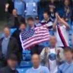 US Flag at City of Manchester Stadium