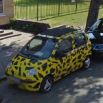 Tiny Black & Yellow Car