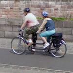 Tandem bike riders
