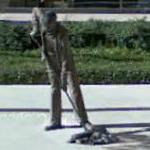 Sweeper statue